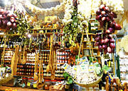 Harvest Art Digital Art Prints - Florence Market Print by Irina Sztukowski