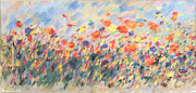 Red Poppies Pastels - Flores del Campo by Tolere