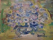 Flow Bleu Print by Laurie D Lundquist