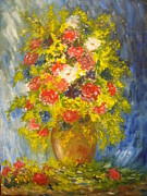 Oil Painting Originals - Flowers 4 by Lavinia Paduraru
