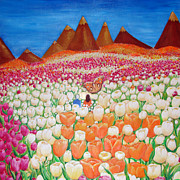 Mystical Paintings - Flowers and Fields Alive With Thy Joy by Ashleigh Dyan Bayer
