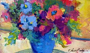 Vangogh Originals - Flowers for a Blue Lady by Therese Fowler-Bailey