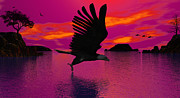 Geese Digital Art Posters - Flying Home Poster by Robert Orinski