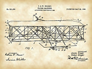 Sustained Framed Prints - Flying Machine Patent Framed Print by Stephen Younts