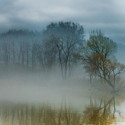 Rochester Prints - Foggy Pond Print by Ken Marsh