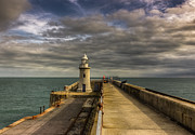 Trawler Metal Prints - Folkestone lighthouse Metal Print by Ian Hufton