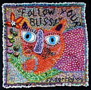 Cats Tapestries - Textiles Posters - Follow your Bliss Poster by Susan Sorrell