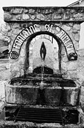 Fontaine Posters - Fontaine St Michel Non Drinking Water Fountain Mont-louis Pyrenees-orientales France Poster by Joe Fox