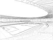 Stadium Design Prints - Football Soccer Stadium Print by Nenad  Cerovic