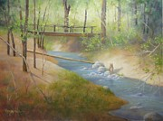 Carol Reynolds - Footbridge At Frijoles...