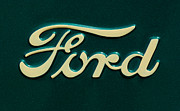 Ford Automobiles Framed Prints - Ford Emblem Framed Print by Jill Reger