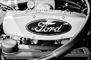 Ford Photos - Ford Engine Emblem by Jill Reger