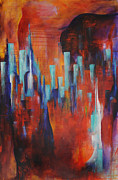 High Rise Paintings - Forever Awake by Aazam Irilian