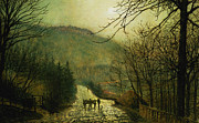 Forge Valley Print by John Atkinson Grimshaw