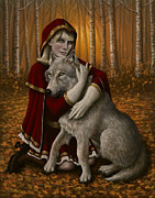 Wolves Digital Art Metal Prints - Forgiveness Metal Print by Mark Zelmer