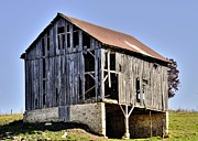Rundown Barn Framed Prints - Forgotten Barn Framed Print by Mike Williams