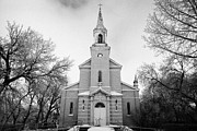 Saint Joseph Prints - former st josephs catholic church in Forget Saskatchewan Canada Print by Joe Fox
