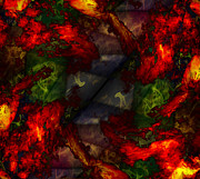 Flames Metal Prints - Formless and Void Metal Print by Christopher Gaston