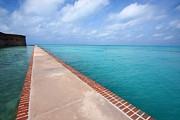 Dry Tortugas Photo Prints - Fort Jefferson at Dry Tortugas National Park Print by Jetson Nguyen