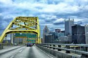 Pittsburgh Art - Fort Pitt Bridge and Downtown Pittsburgh by Thomas R Fletcher