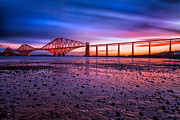 Fife Framed Prints - Forth Rail Bridge Framed Print by John Farnan