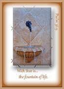 Faucet Posters - Fountain of Life Poster by Larry Bishop