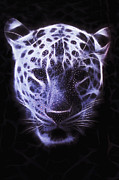 Tiger Fractal Photos - Fractal Tiger by Richard Herman