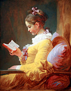 Fragonard Prints - Fragonards Young Girl Reading Print by Cora Wandel