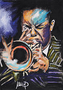 Featured Pastels Framed Prints - Freddie Hubbard Framed Print by Melanie D