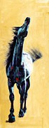 Contemporary Equine Prints - Free and Easy Down The Road I Go Print by Frances Marino