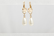 Bridal Jewelry Jewelry - FREE SHIPPING Idit Stern Roses and Pearls Earrings  by Idit Stern