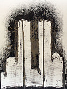 Richard Sean Manning Paintings - Freedom Towers by Richard Sean Manning