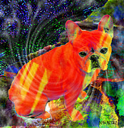 French Bulldog Prints Prints - French Bulldog Magic Print by Barbara Chichester