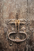 Medieval Entrance Photo Prints - French Door Knocker Print by Georgia Fowler