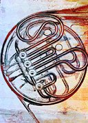 French Horn Prints - French Horn Print by David Ridley