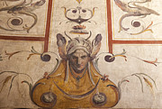 Floral Photographs Photos - Fresco on the Ceiling in Palazzo Vecchio by Melany Sarafis