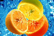 Delicious Art - Fresh citrus background by Michal Bednarek