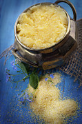 Porridge Bowl Art - Fresh corn meal by Mythja  Photography