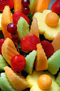 Fresh Fruit Posters - Fresh Fruit Arrangement Poster by Amy Cicconi