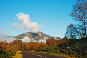 D300 Prints - Fresh Morning Road through The Trossachs National Park. Scotland Print by Jenny Rainbow