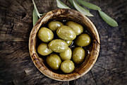 Fresh Olives Print by Mythja  Photography