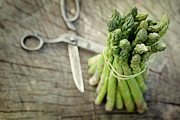 Mythja Prints - Freshly harvested asparagus Print by Mythja  Photography
