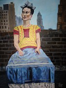 Diego Rivera Framed Prints - Frida  Framed Print by Alfonso  f Gallegos