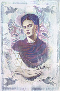 Politics Digital Art Framed Prints - Frida Framed Print by Elena Nosyreva