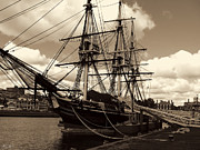 Ship In Sepia Photo Posters - Friendship of Salem Poster by Lourry Legarde