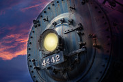 Bolts Digital Art Posters - Front of locomotive Poster by Gunter Nezhoda