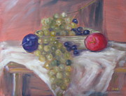 Plum Pastels - Fruit basket by Iris Nazario Dziadul