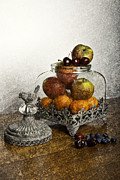 Fruit Still Life Posters - Fruit Still Life Poster by Lesley Rigg