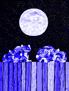 Full Moon Blues Cats Print by Nick Gustafson
