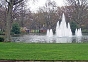 Furman Fountain Print by Larry Bishop